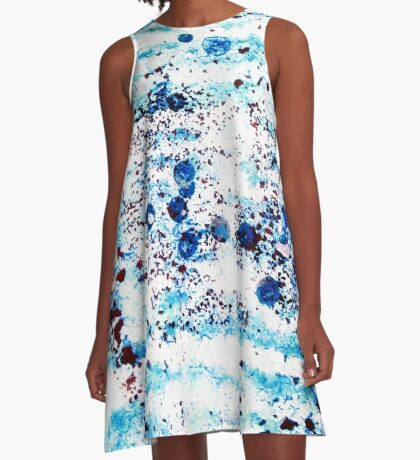Mediterranean Sealife A-Line Dress