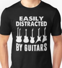EASILY DISTRACTED BY GUITARS  T-SHIRT Unisex T-Shirt