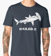 Nailed It Hammerhead Shark Funny Vintage Design Men's Premium T-Shirt