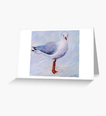 'My dear Gull...' Acrylic on linen Greeting Card