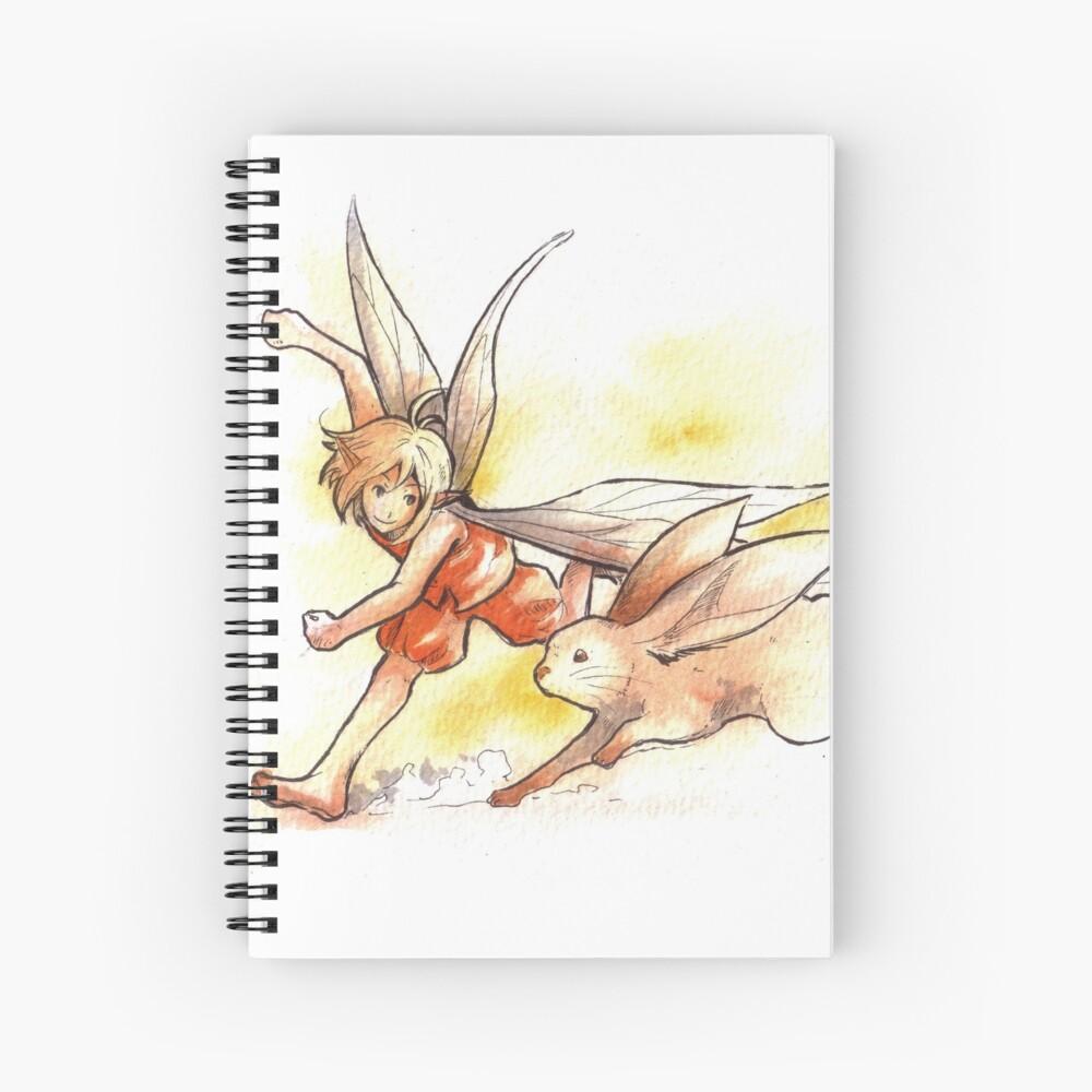 The Running Fairy Spiral Notebook
