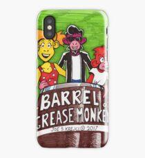 Barrel of Grease Monkeys iPhone Case/Skin