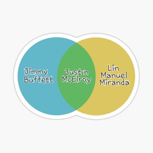 Justin McElroy's Venn Diagram Sticker