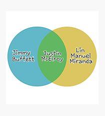 Justin McElroy's Venn Diagram Photographic Print