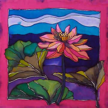 Lotus: Kakadu. Silk painting.   by emgolding