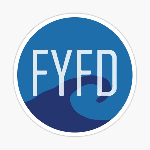 FYFD Kelvin-Helmholtz Sticker (2016 edition) Sticker