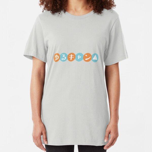 Yuru Camp Logo Slim Fit T-Shirt