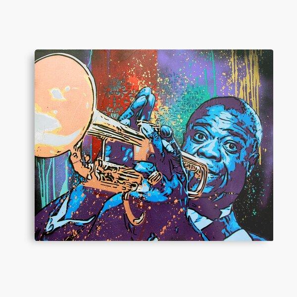 Louis Armstrong Pop Metal Print
