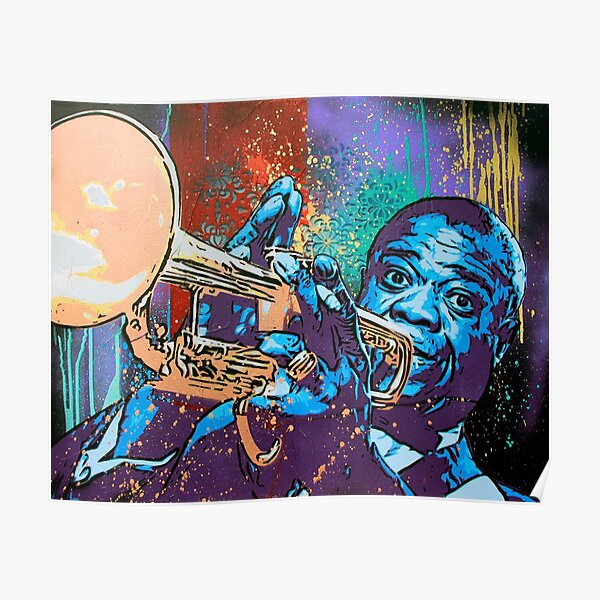Louis Armstrong Pop Poster