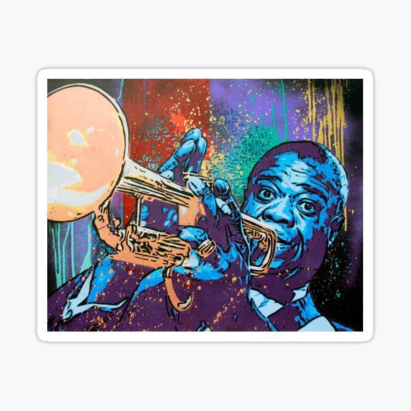 Louis Armstrong Pop Sticker