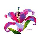 Dalian Lily Watercolor by Pat Yager