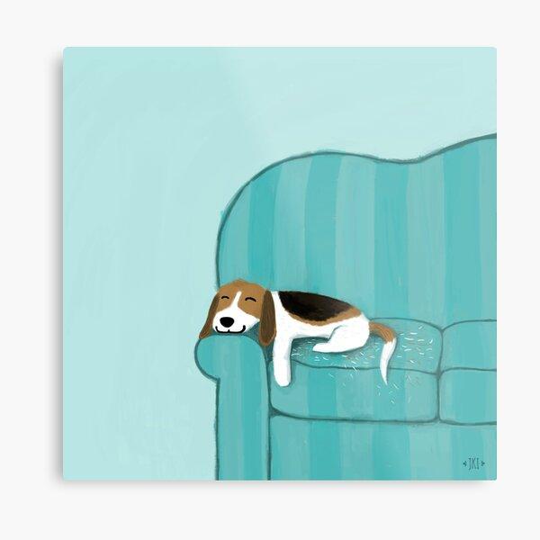 BEAGLE dog art PRINT poster gift JSCHMETZ modern folk kitchen cereal 13x19