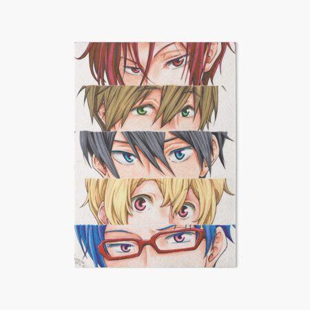 Free! Iwatobi swim club eyes Art Board Print