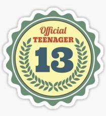 13 Geburtstag Laptop Haut Sticker Redbubble
