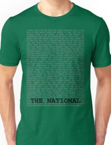 The National Typography Unisex T-Shirt