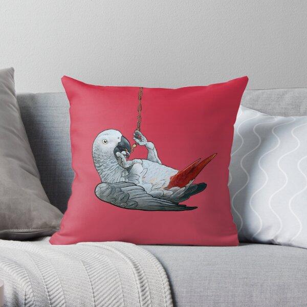 African Grey Parrot (Congo) Throw Pillow
