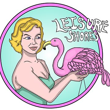 Leisure Shores Girl With Flamingo Shirt by SAMerch