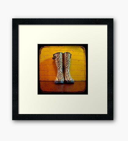 Gumboots Framed Print
