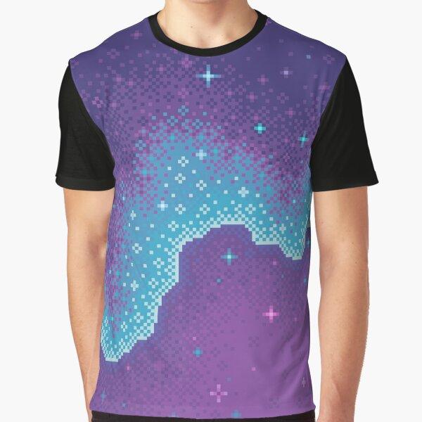 Purple Aura Galaxy Graphic T-Shirt
