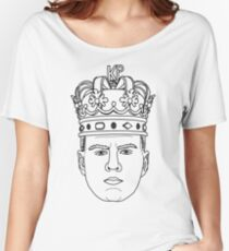 Kristaps Porzingis THE REAL KING OF NEW YORK Knicks minimalist design Women's Relaxed Fit T-Shirt