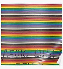 Rainbow wires Poster