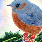 Bluebird In The Holly by AngieDavies