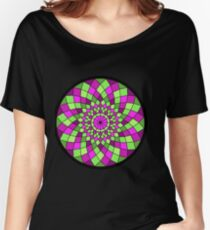 Pink and Green Mandala Women's Relaxed Fit T-Shirt