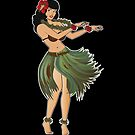 Beautiful Hula Girl Dancing the Hula by Frank Schuster