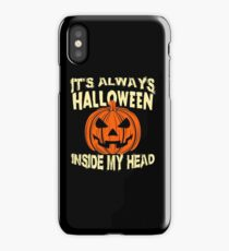 It's always halloween inside my head iPhone Case/Skin