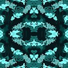Pattern Style blue, repeating repetition abstract abstraction by Wave Lords United