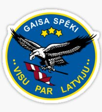 Emblem of the Latvian Air Force Sticker