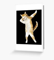 Dabbing Cat Kitten Funny Dab Tee Cool Dance Kitty  Greeting Card