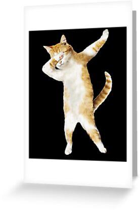 «Dabbing Cat Kitten Funny Dab Tee Cool Dance Kitty» de TrendyTees12