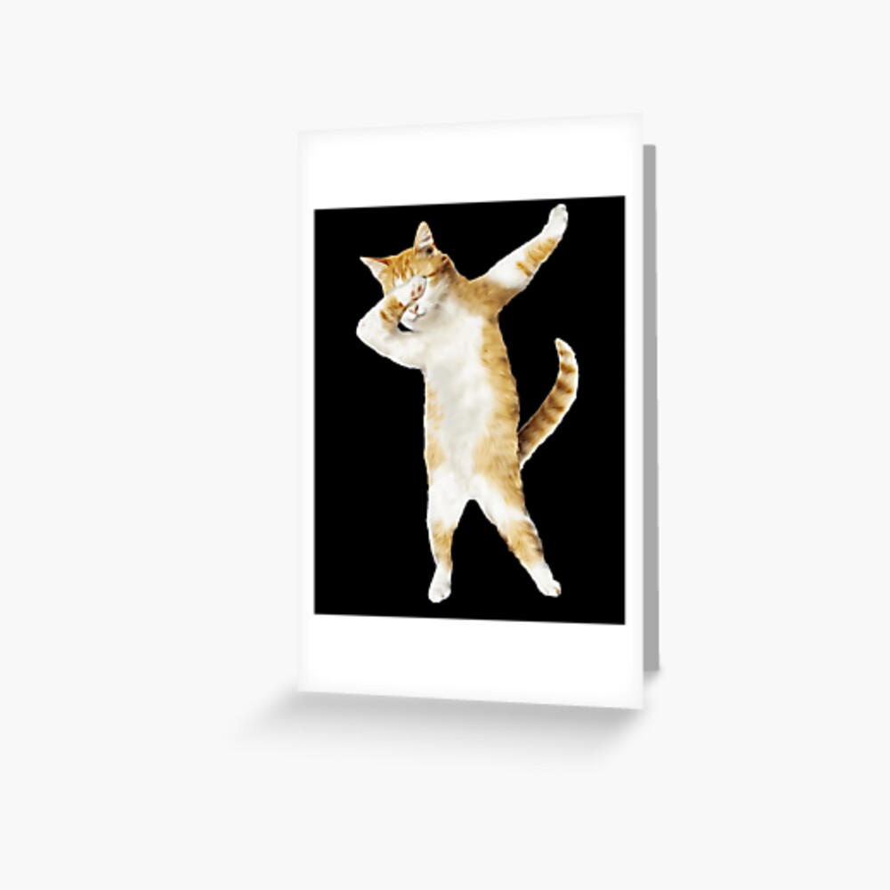 Dabbing Cat Kitten Funny Dab Tee Cool Dance Kitty  Greeting Card