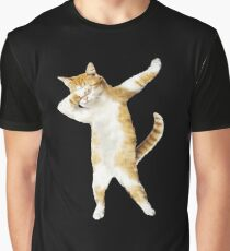 Dabbing Cat Kitten Funny Dab Tee Cool Dance Kitty  Graphic T-Shirt