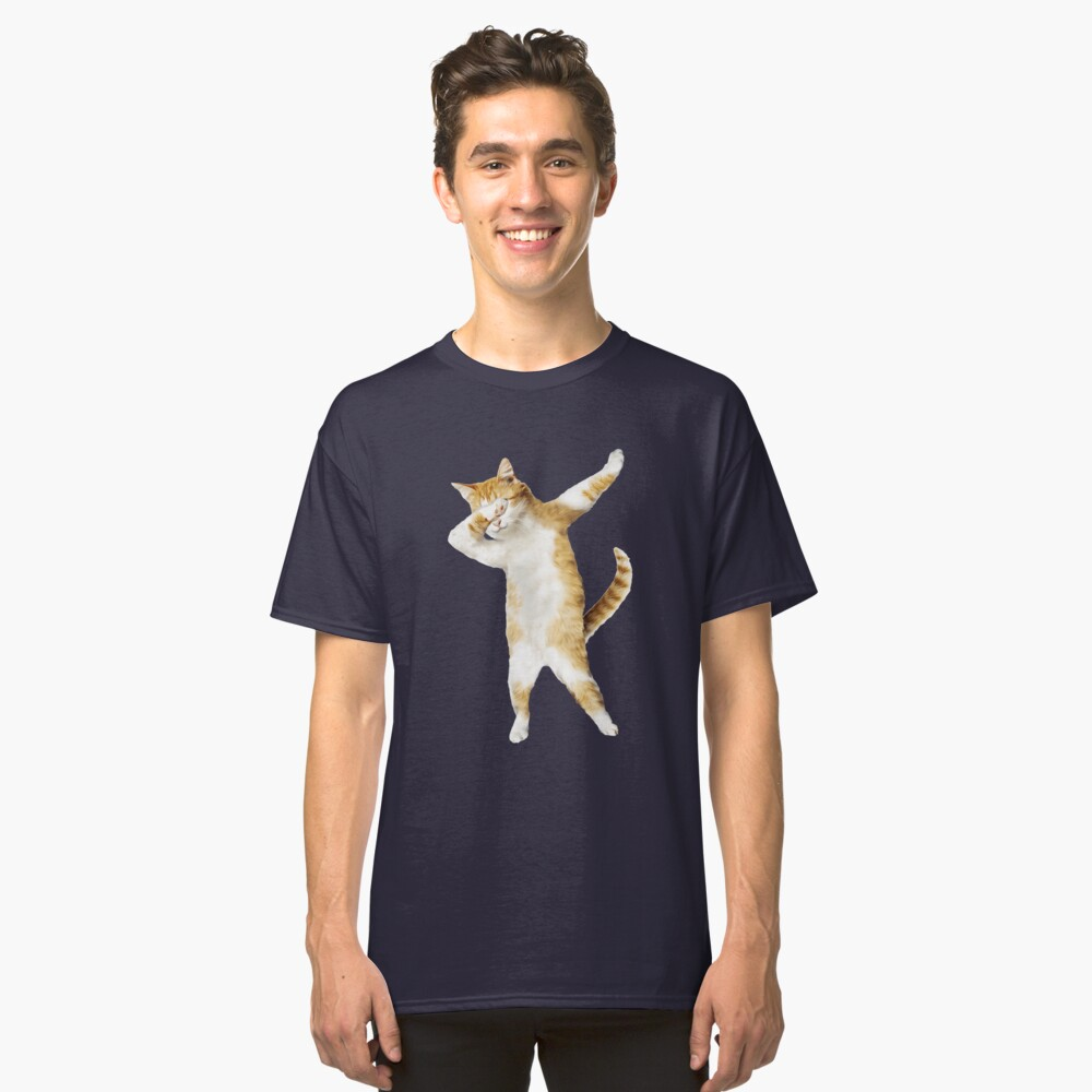 Tupfendes Katzen-Kätzchen-lustiges Tupfen-T-Stück Coole Tanz-Miezekatze Classic T-Shirt