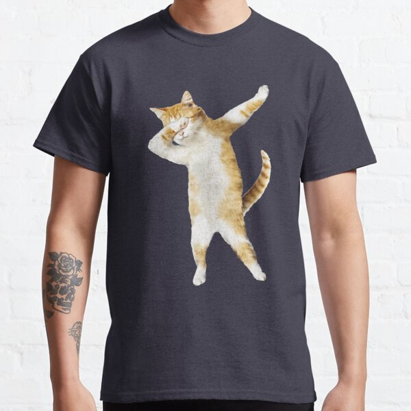 Dabbing Cat Kitten Funny Dab Tee Cool Dance Kitty  Classic T-Shirt
