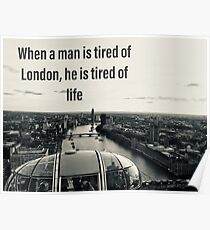 London love quote  Poster