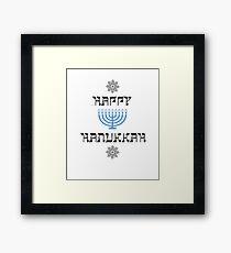 Happy Hanukkah Chanukah Menorah  Framed Print