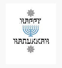 Happy Hanukkah Chanukah Menorah  Photographic Print