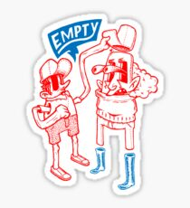 You Are Empty!  Sticker