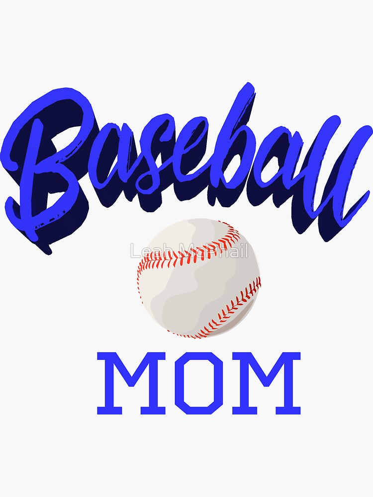 Baseball Mom Typography with Baseball by LeahMcPhail