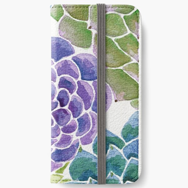 Watercolor Succulents  iPhone Wallet