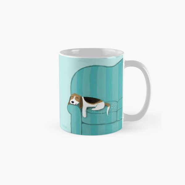Happy Couch Dog | Cute Beagle Classic Mug