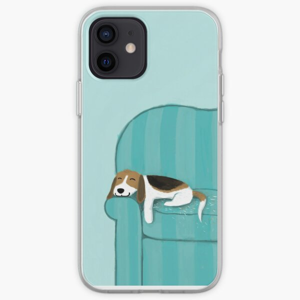Happy Couch Dog | Cute Beagle iPhone Soft Case