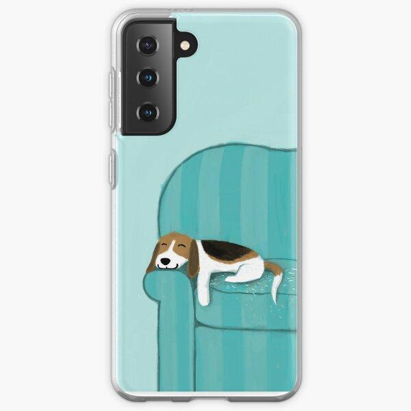 Happy Couch Dog   Cute Beagle Samsung Galaxy Soft Case