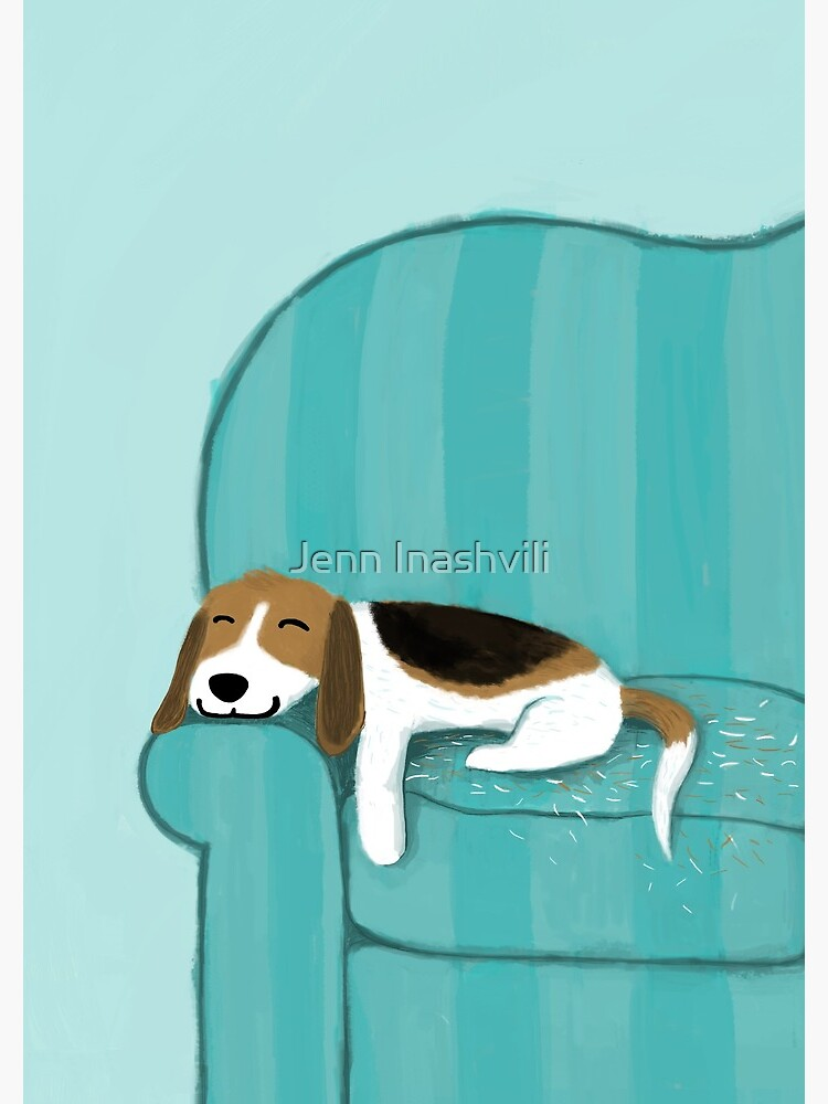 Happy Couch Dog | Cute Beagle by ShortCoffee