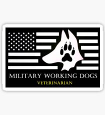 Military Working Dog Veterinarian Sticker