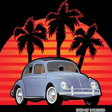 Beetle Bug Kaefer with Sunset and Palms by azoid