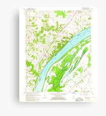 USGS TOPO Map Illinois IL Olmsted 308368 1967 24000 Canvas Print